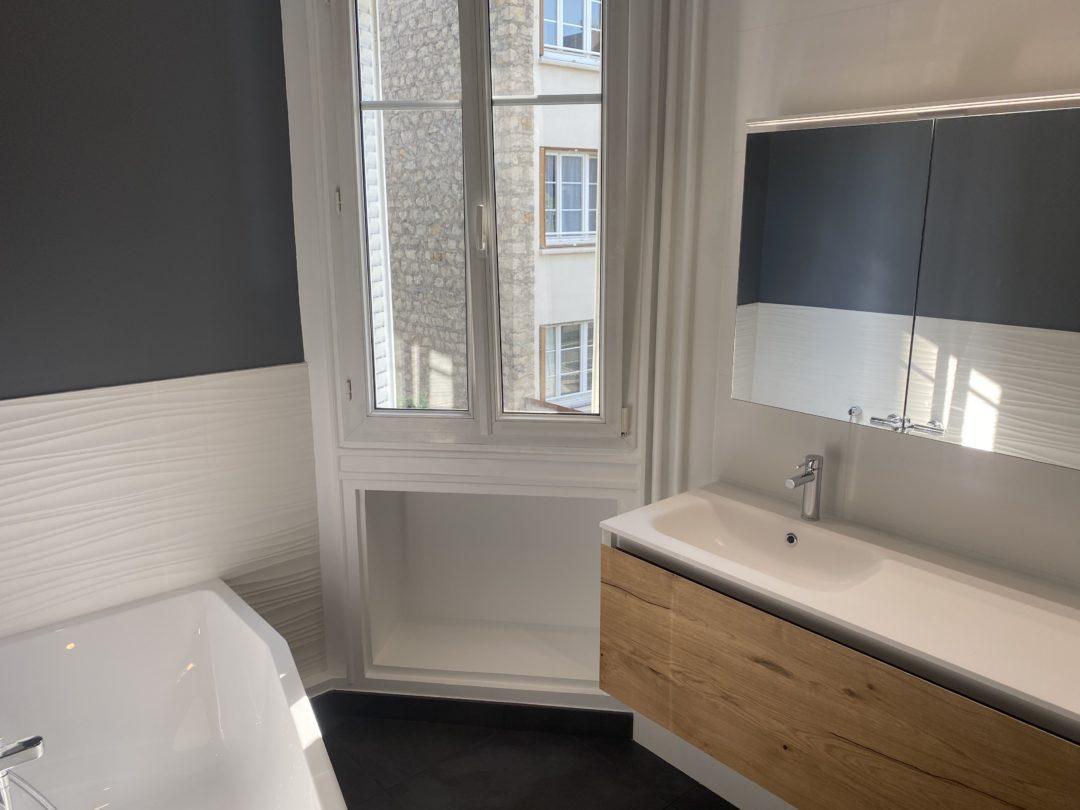 Salle de bains à Issy les Moulineaux